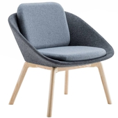 Dishy Wood Lounge Chair