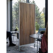 Free Standing Protective Dividing Screen (Mod. Glass/Laminate)