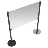 Free Standing Separe-Eco Protective Screen