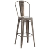 French Bistro 2 Barstool With High Back
