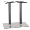 Inox Round Twin Wooden Dining Table Base