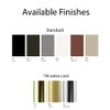 Available Metal Finishes