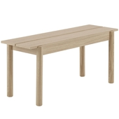 Linear Wooden Bench