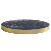 Marble Laminate Table Top With Brass ABS Edging