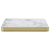 Marble Laminate With Brass ABS Edging