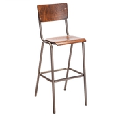 New Skool Barstool With Back