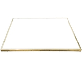 Outdoor Laminate Table Top with Brass Edging