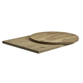Rustic Solid Oak Table Top