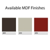 Available MDF Finishes