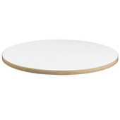 White Laminate Table Top With Ply ABS Edging